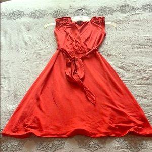 July summer time dress. Bloody orange